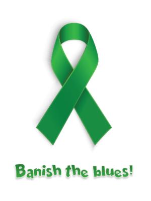 banish the blues ribbon